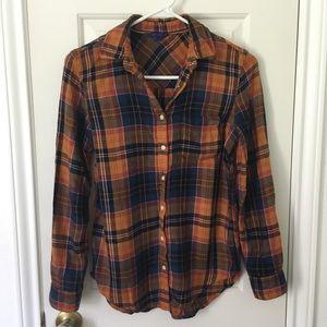 Plaid flannel shirt